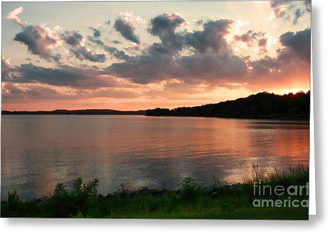 Greeting Card featuring the photograph Bohemia River Sunset In Maryland by Polly Peacock