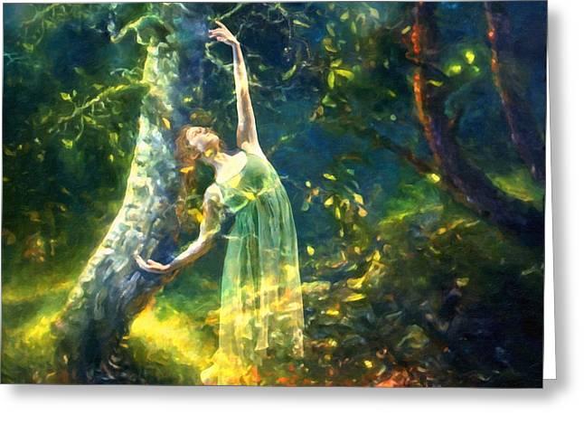Bohemian Dancer Fantasy Greeting Card