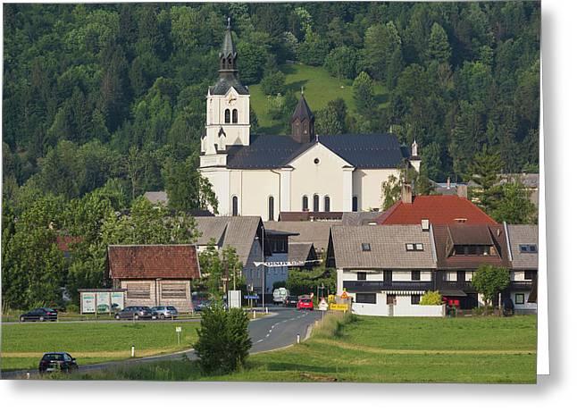 Bohinjska Bistrica, Slovenia Greeting Card