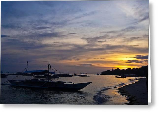 Bohol Sunset Greeting Card