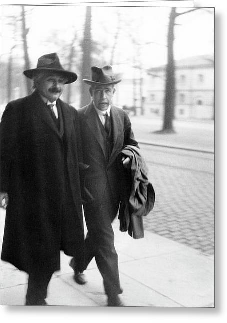 Bohr And Einstein Greeting Card by Emilio Segre Visual Archives/american Institute Of Physics
