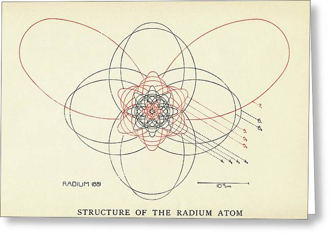 Bohr-sommerfeld Model Of The Atom Greeting Card by Emilio Segre Visual Archives/american Institute Of Physics