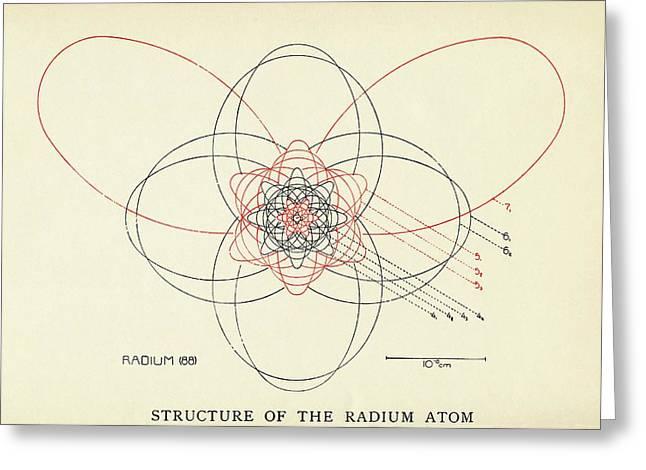 Bohr-sommerfeld Model Of The Atom Greeting Card