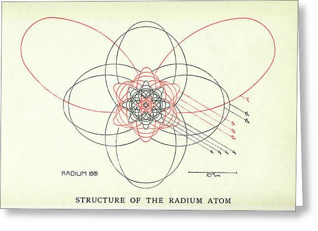 Bohr's Radium Atom Greeting Card by Aip Emilio Segre Visual Archives