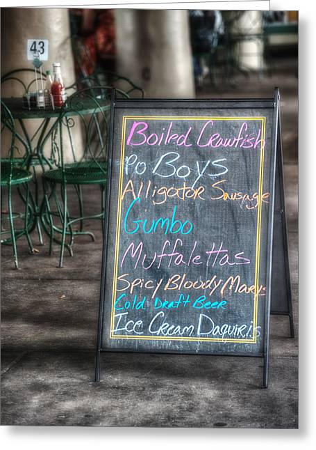 Boiled Crawfish Special Greeting Card by Brenda Bryant