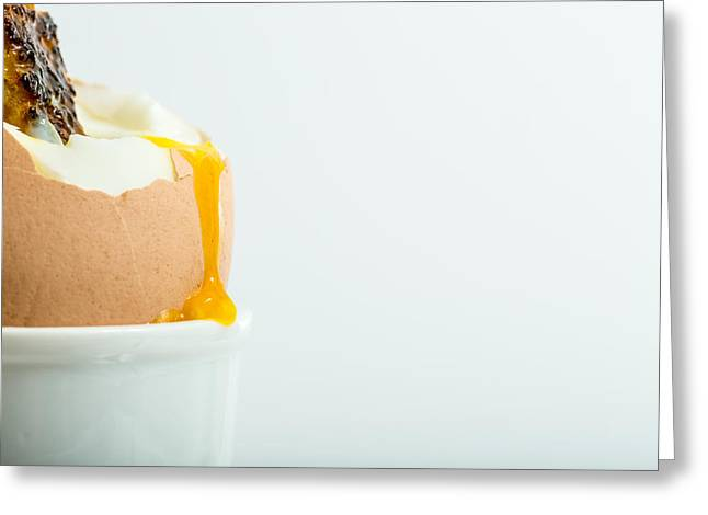 Boiled Egg With Toast. Greeting Card by Gary Gillette
