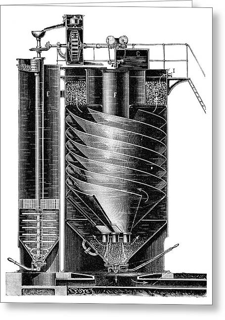 Boiler Water Purification Greeting Card by Science Photo Library