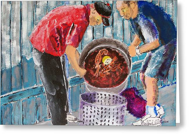Boiling Mud Bugs Greeting Card