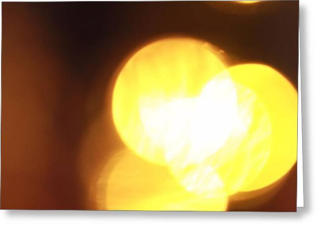 Bokeh Lights Greeting Card by Dan Sproul