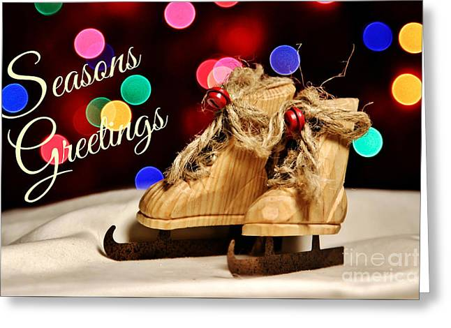 Bokeh Skates Card Greeting Card