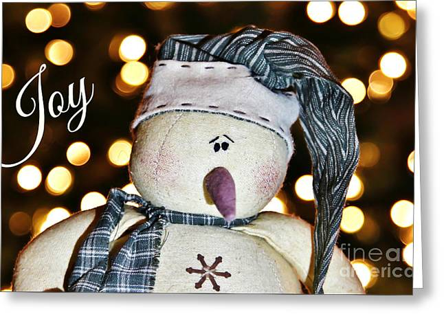 Bokeh Snowman Card Greeting Card