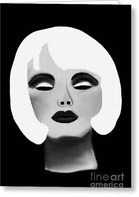 Bold Blonde Beauty Greeting Card