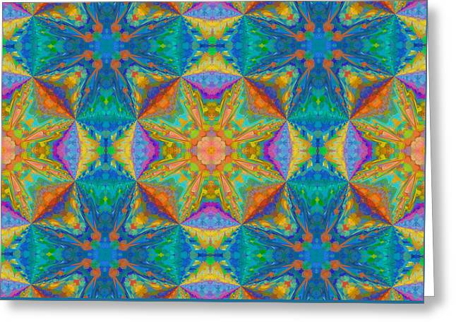 Bold Maze Abstract Greeting Card by Georgiana Romanovna