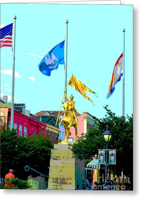 Bold St Joan Of Arc Poster Greeting Card