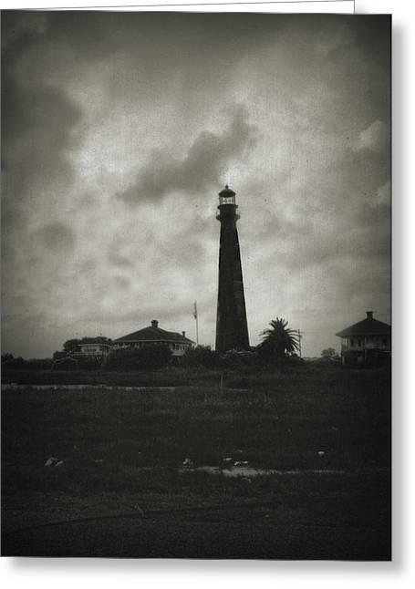 Bolivar Lighthouse Greeting Card by Linda Unger