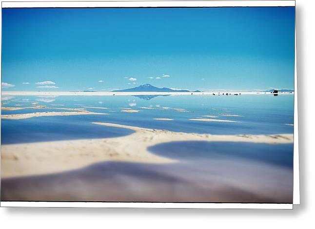 Bolivia Salt Flats Framed Greeting Card