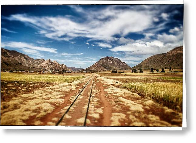 Bolivia Train Tracks Greeting Card by For Ninety One Days
