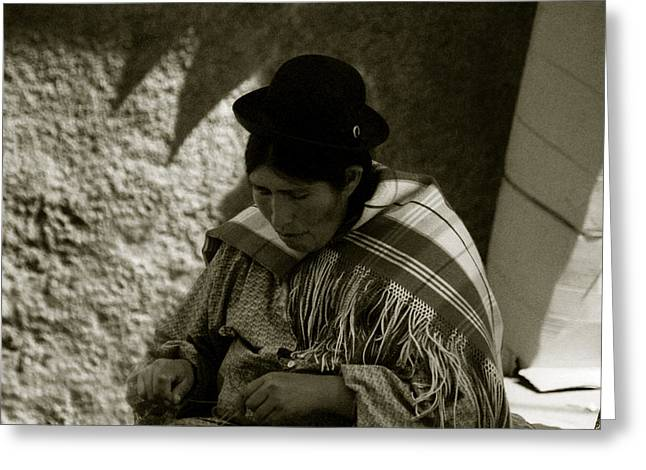Greeting Card featuring the photograph Bolivian Woman by Amarildo Correa