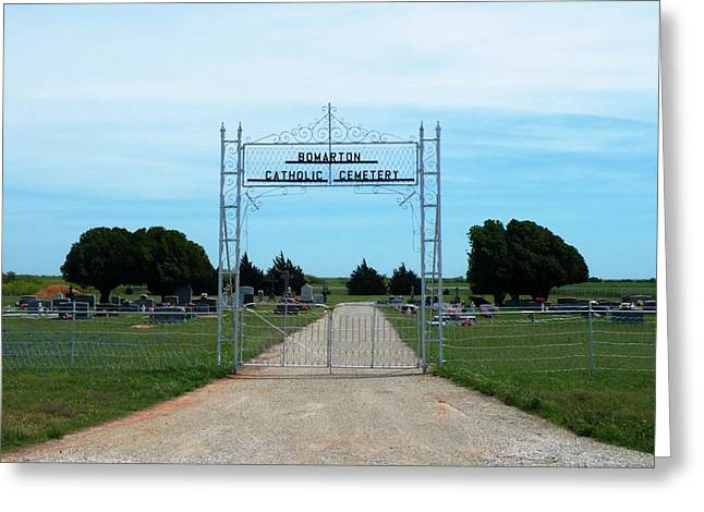 Bomarton Catholic Cemetery 1 Greeting Card by The GYPSY And DEBBIE