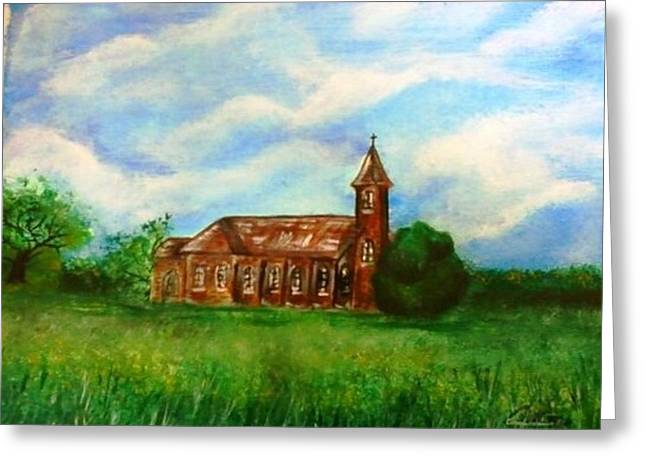 Bomarton Church Greeting Card by The GYPSY And DEBBIE