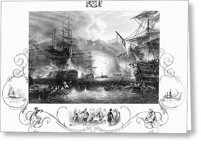 Bombardment Of Algiers Greeting Card