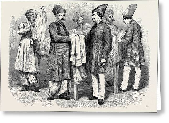 Bombay Brokers And Traders A Brokers Room Of An English Greeting Card