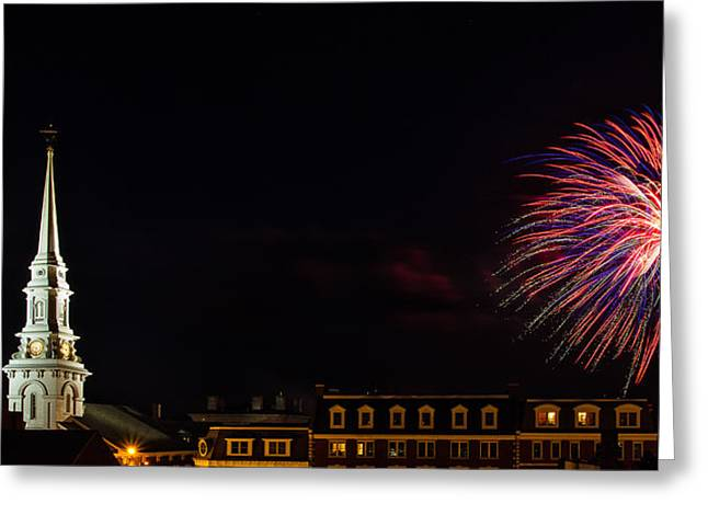 Bombs Bursting In Air Portsmouth Nh Greeting Card