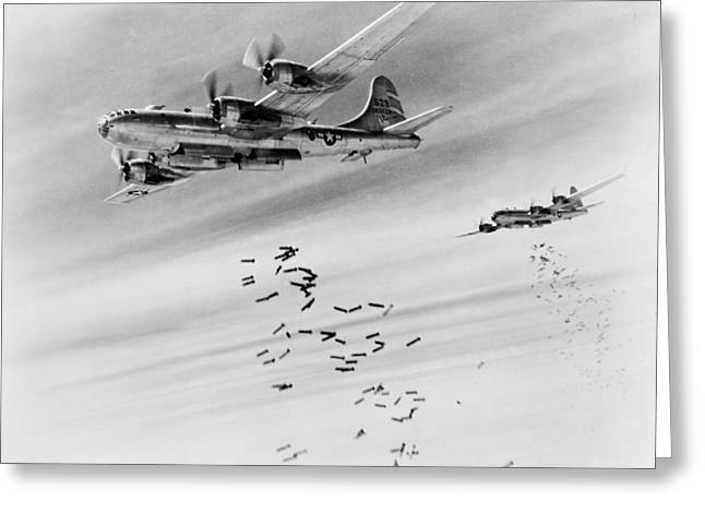 Bombs Over Burma Greeting Card by US Army Air Force