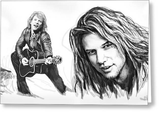 Bon Jovi Art Drawing Sktech Poster Greeting Card