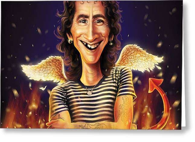 Bon Scott Greeting Card by Andre Koekemoer