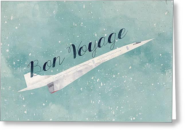 Bon Voyage Greeting Card by Randoms Print