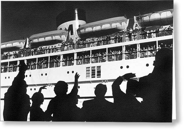 Bon Voyage Greeting Card by Underwood Archives