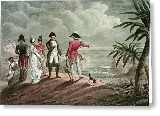 Bonaparte On St. Helena Steel Engraving Greeting Card by Francois Martinet