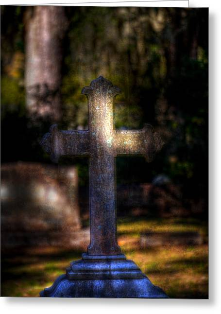Bonaventure Cross Greeting Card by Mark Andrew Thomas