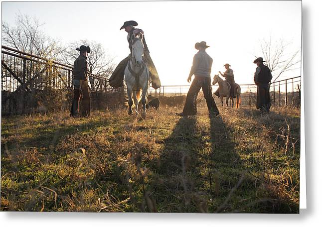 Bond Cowboys Greeting Card