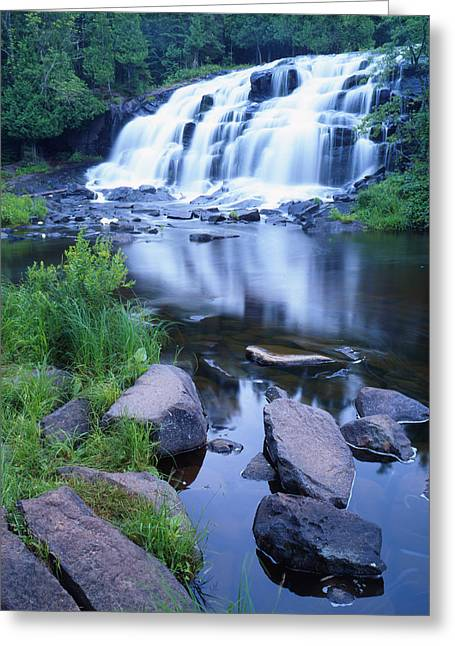 Bond Falls Greeting Card by Ray Mathis