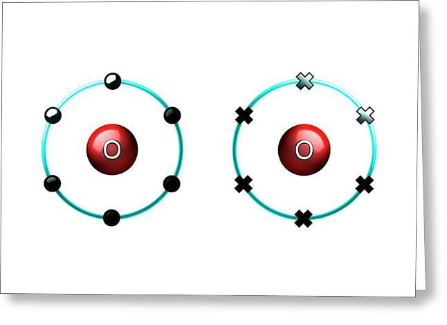 Bond Formation In Oxygen Molecule Greeting Card