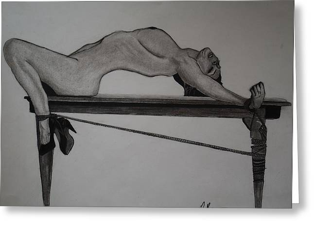 Bondage Greeting Card by Ordette Rocque