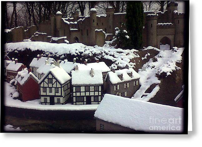 Bondville Model Village Greeting Card by Merice Ewart