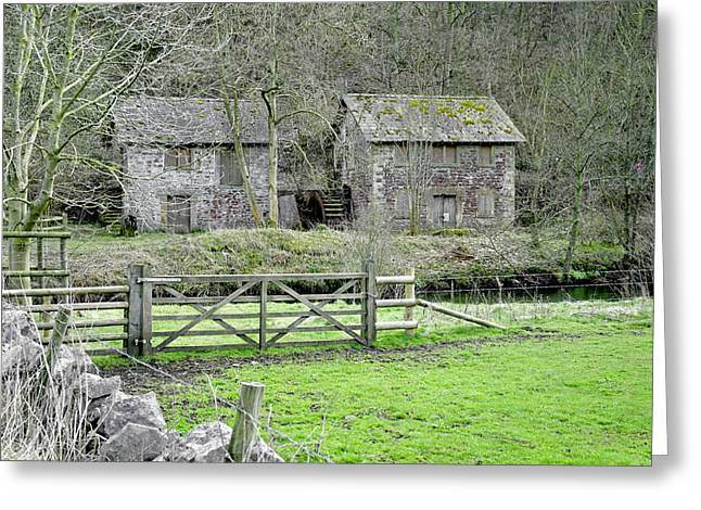 Bone Crushing Mill - Near Ashford-in-the-water Greeting Card by Rod Johnson