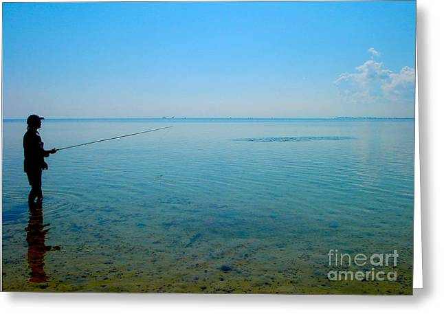 Bonefish Stalk  Greeting Card by Carey Chen