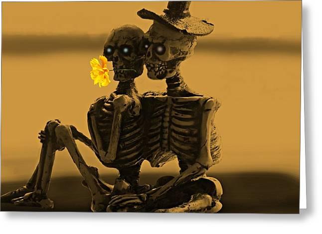 Bones In Love  Greeting Card by David Dehner