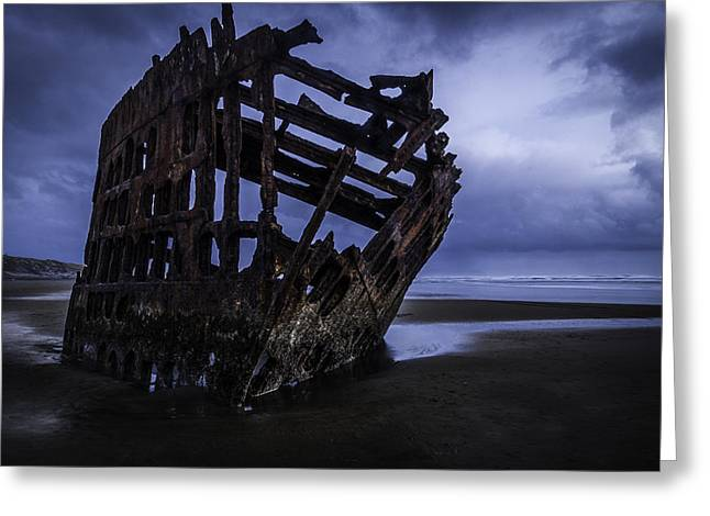 Bones Of The Peter Iredale Greeting Card