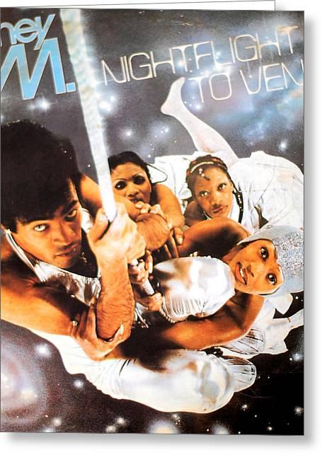 Boney M Night Flight To Venus Greeting Card