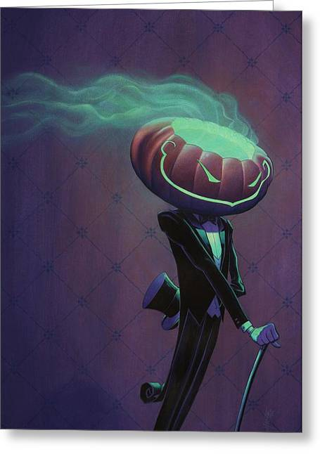 Mister Jack Greeting Card by Richard Moore