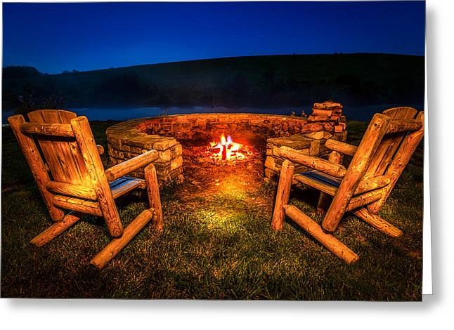 Bonfire Greeting Card