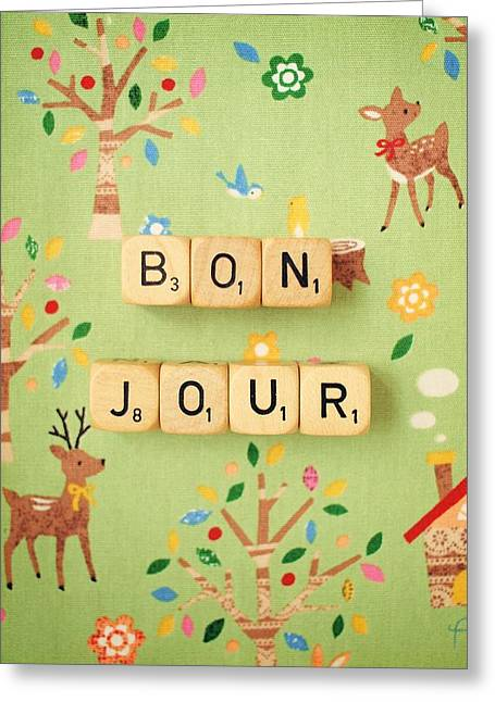 Bonjour Greeting Card by Mable Tan