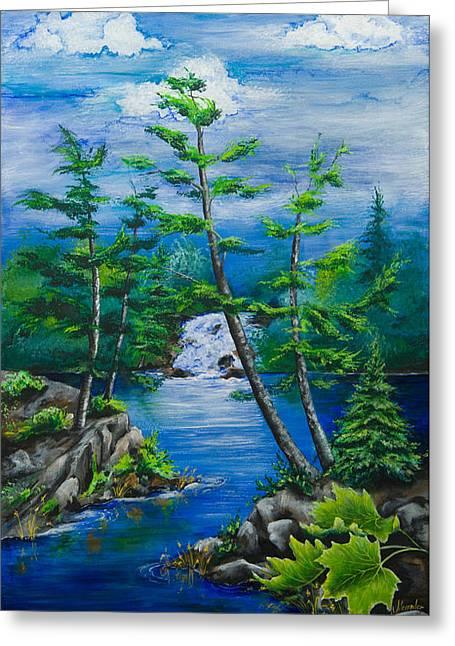 Bonnechere Falls Greeting Card by Jill Alexander