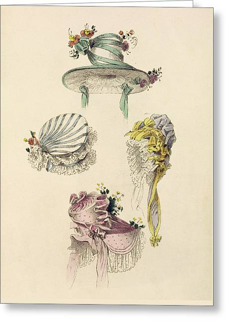 Bonnets For An Occasion, Fashion Plate Greeting Card
