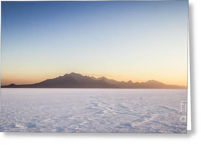Bonneville Salt Flats Landscape Greeting Card
